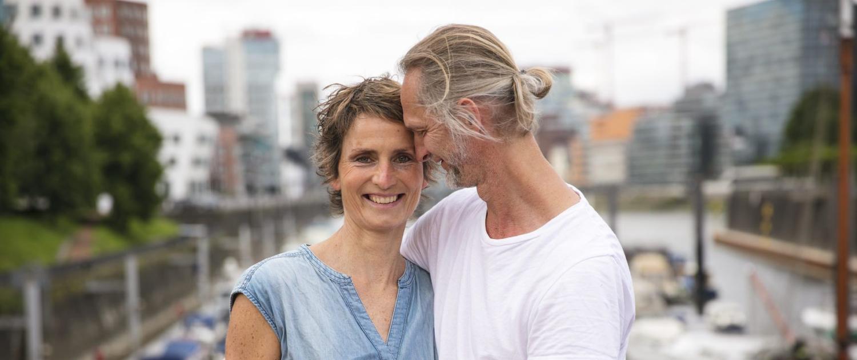Susanne und Marc Rundum Yoga Medienhafen Duesseldorf