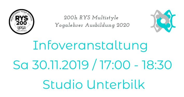 RYS Multistyle Yogaausbildung Infoveranstalung