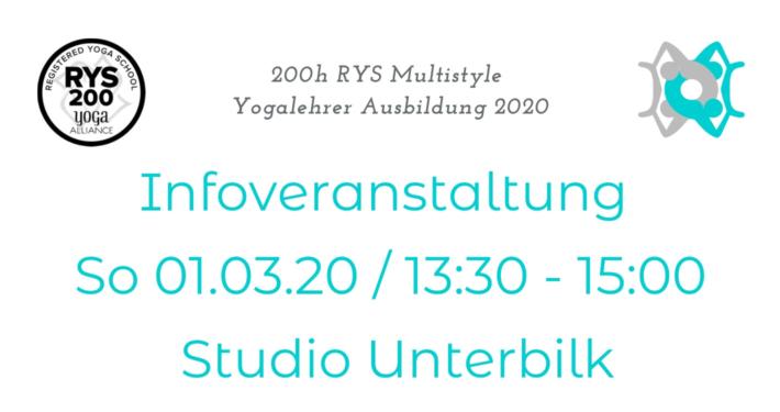 Infoveranstaltung zur RYS h Multistyle Yogalehrer Ausbildung bei Rundum Yoga
