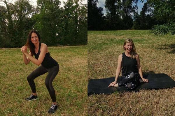 Functional Fitness und Yoga mit Anne Woerrlein und Kerstin Gertkaemper online Session im Studio Unterbilk in Duesseldorf
