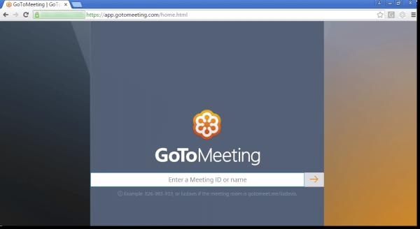 GoToMeeting Web App