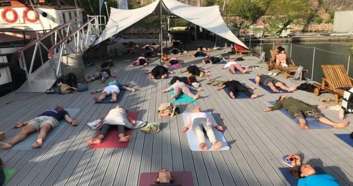 Rundum Yoga Opening Club Marina Duesseldorf