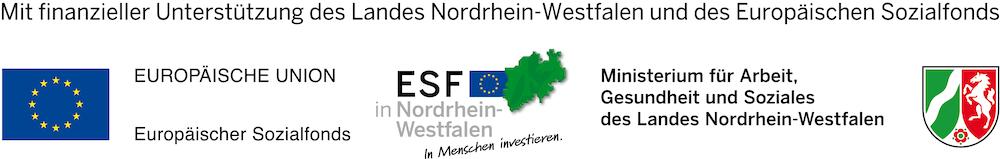 Mit finanzieller Unterstuetzung des Landes Nordrhein Westfalen und des Europaeischen Sozialfonds