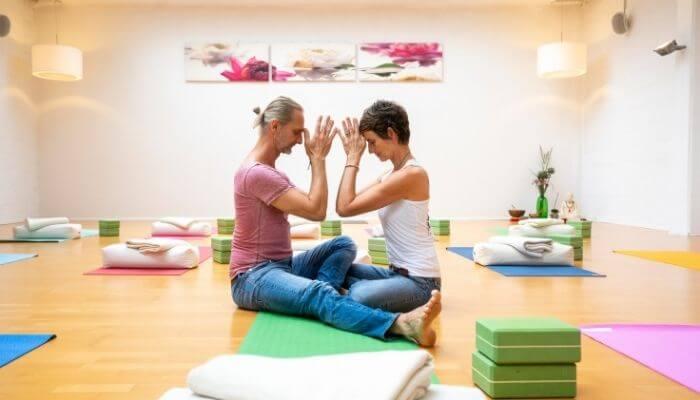Susanne und Marc Wenke im Studio Unterbilk von Rundum Yoga Düsseldorf