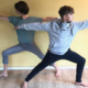 Susanne und Kylian Wenke für Kids and Teens Special bei Rundum Yoga Duesseldorf