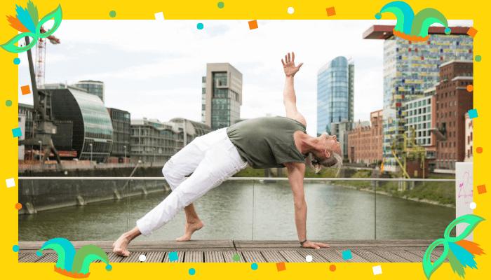 Dance Special mit Marc Wenke zum Rosenmontag in Duesseldorf bei Rundum Yoga