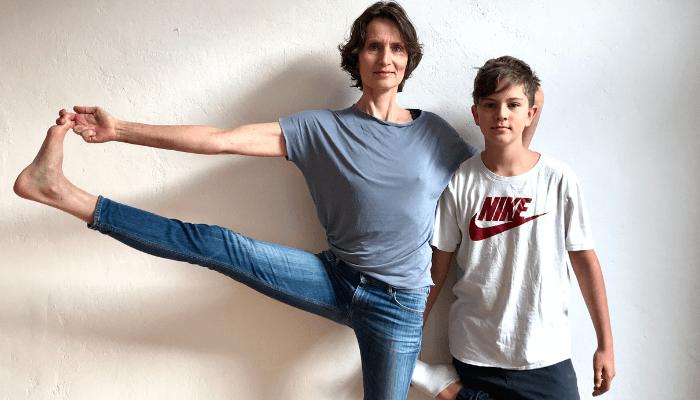 Susanne und Kylian Wenke Fit und Fun bei Rundum Yoga Duesseldorf
