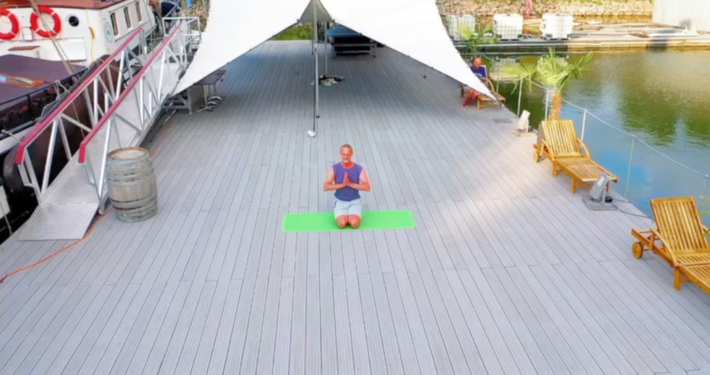 Marc Wenke Outdoor Yoga Club Marina Duesseldorf