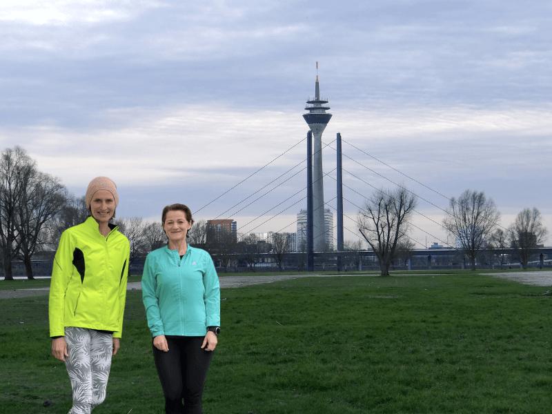 Susanne und Sonja Laufen Rundum Yoga Duesseldorf