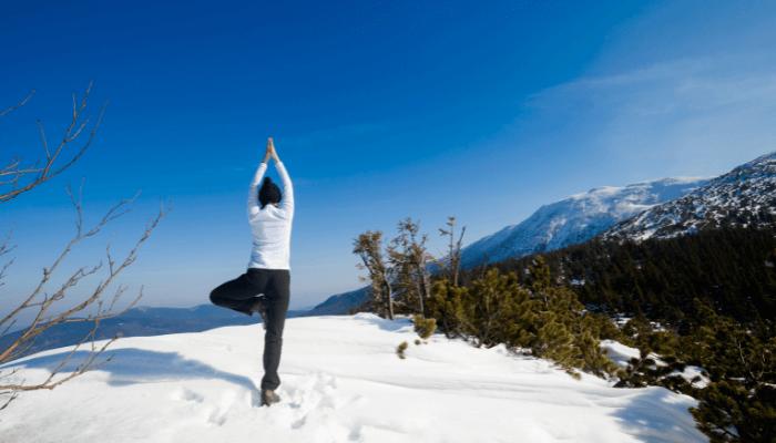 Winter Outdoor Yoga